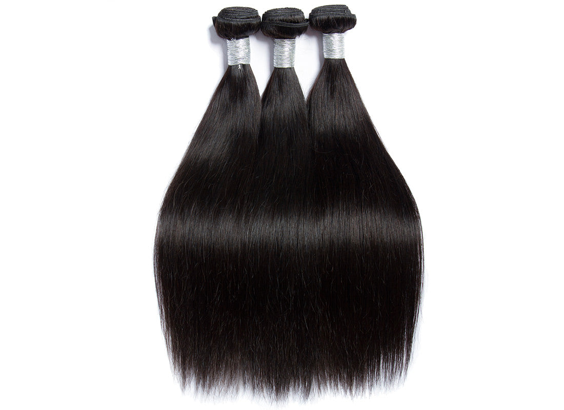 remy straight human hair 3 bundles in description