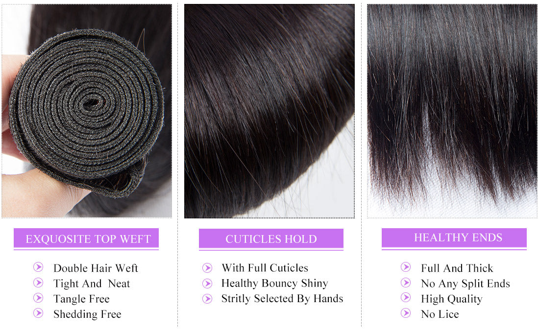 remy straight human hair bundles details in description