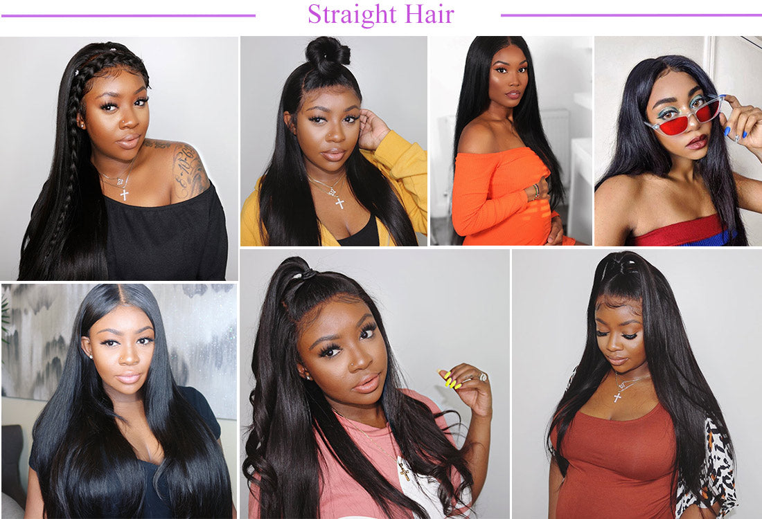 remy straight human hair customer show in description