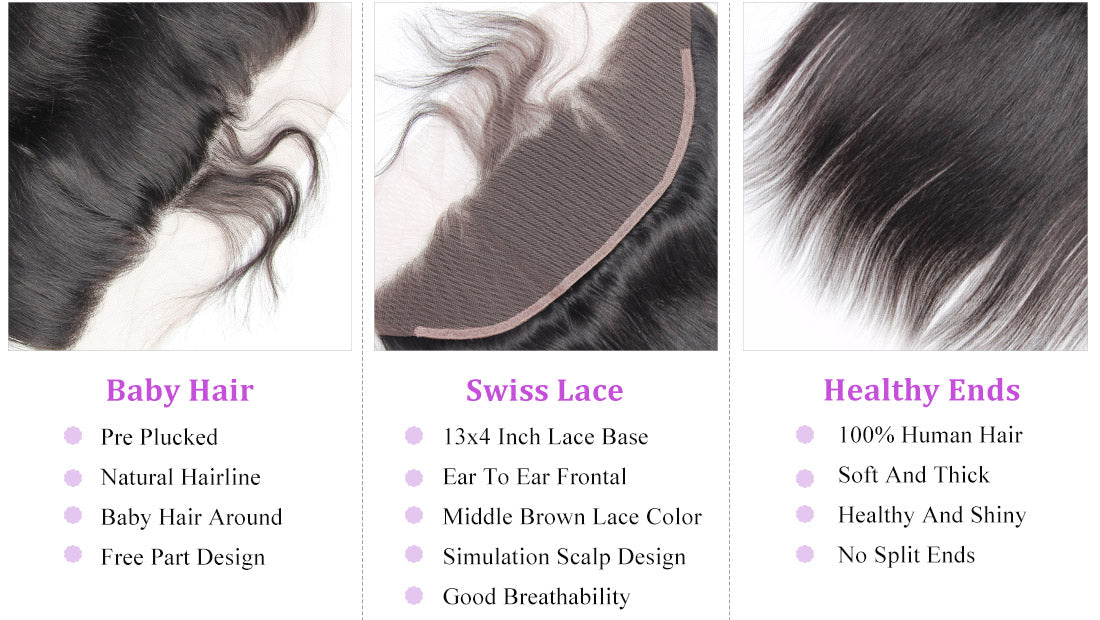 remy straight human hair lace frontal details in description