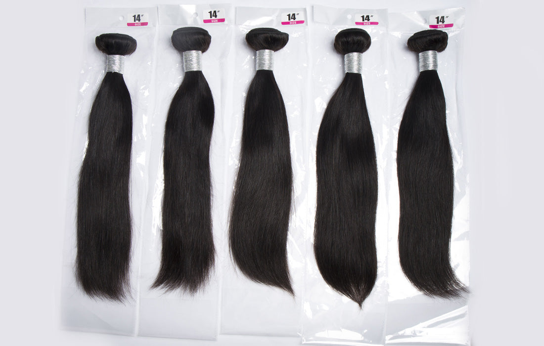 remy straight human hair real bundles in description