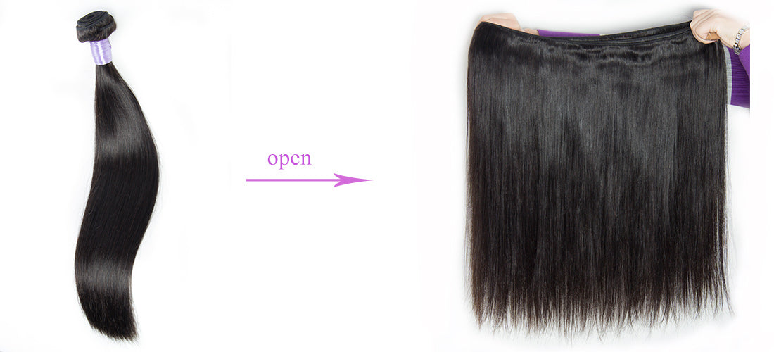 remy straight human hair weft show in description