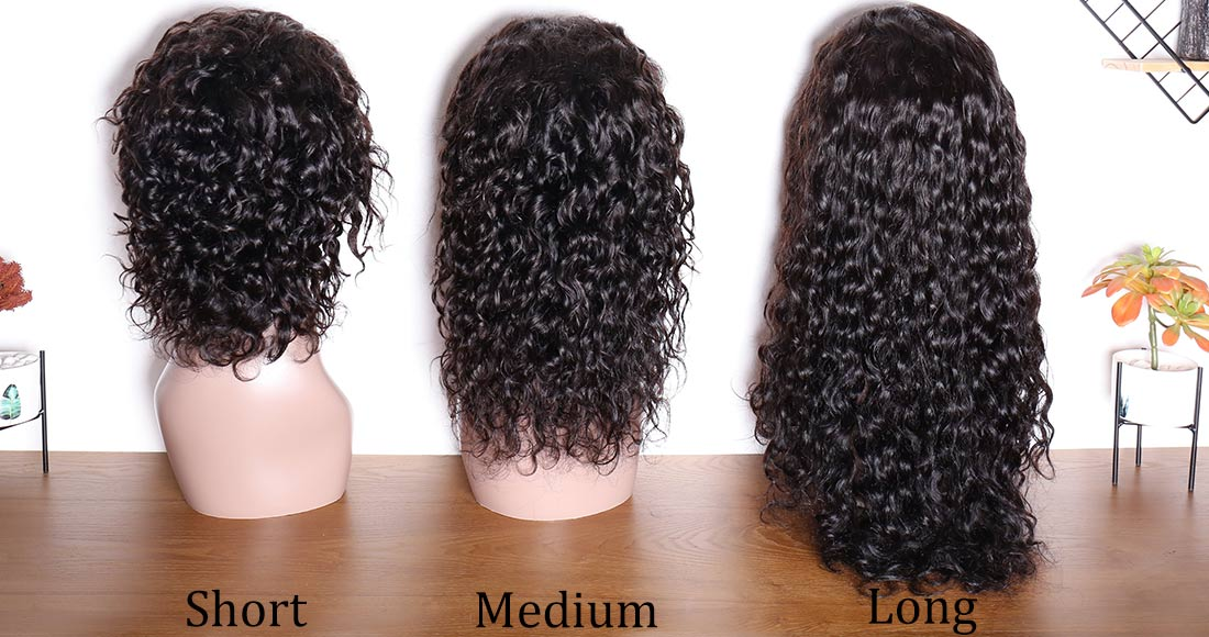 modern show hair water wave 360 lace wigs hair length back show in description