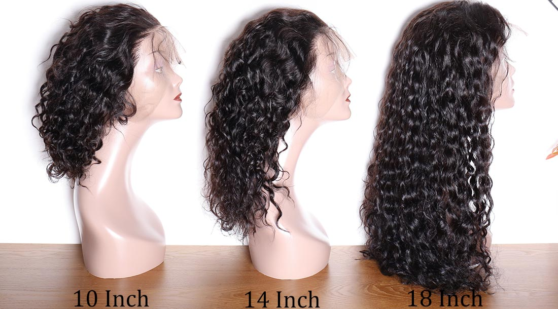 modern show hair water wave 360 lace wigs hair length show in description
