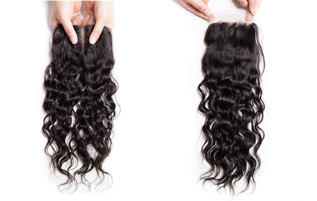 ms remy water wave lace closure show in description