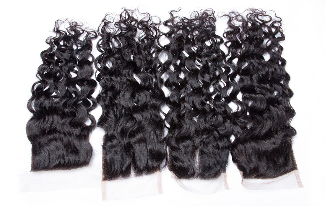 ms remy water wave lace closure image show in description