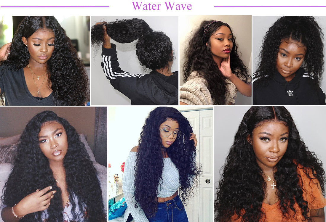 remy water wave human hair customer show in description