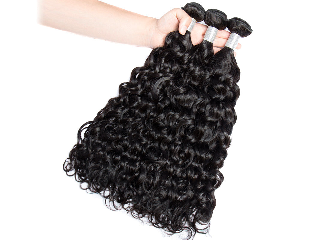 remy water wave human hair 3 bundles show in description