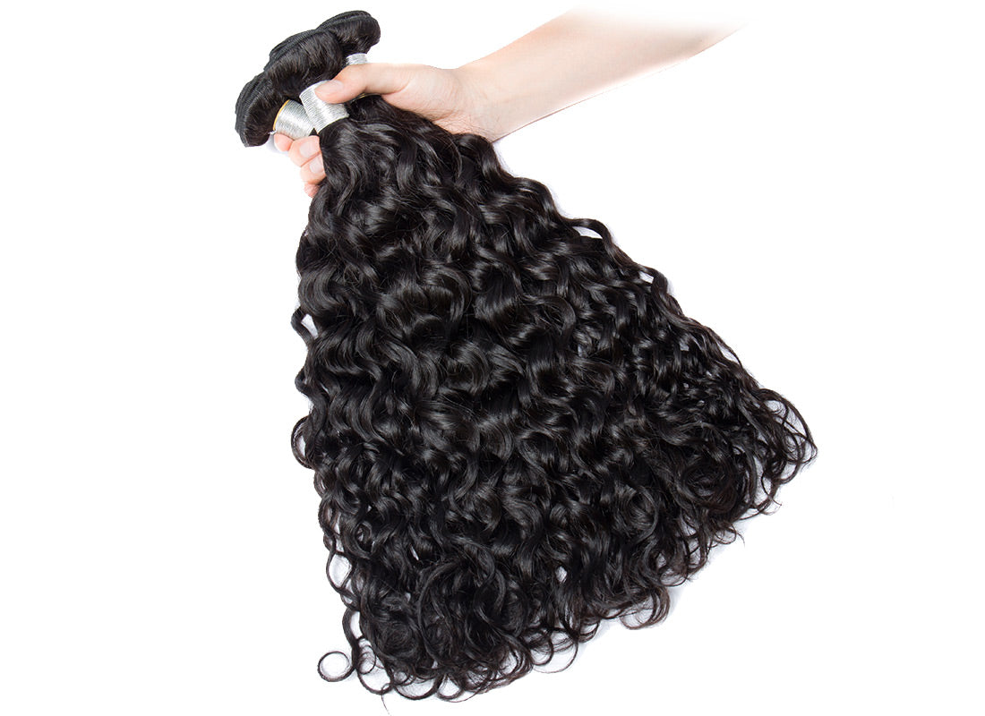 remy water wave human hair 4 bundles show in description