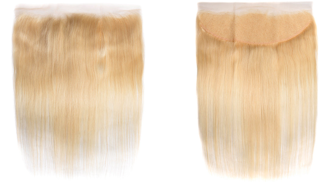 ms 613 blonde color straight lace frontal image show in description