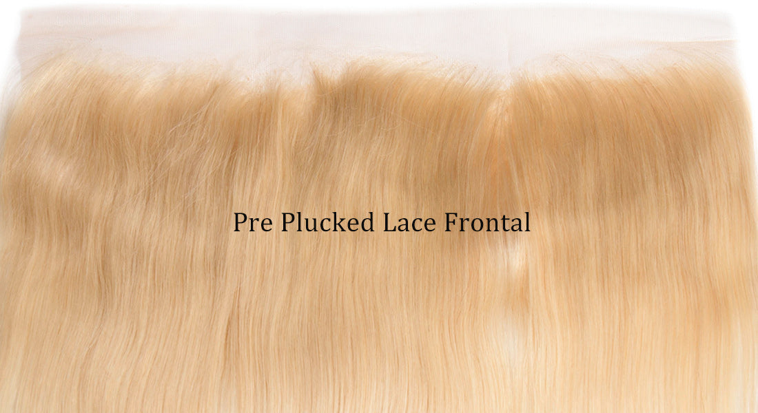 ms 613 blonde color straight lace frontal hairline show in description