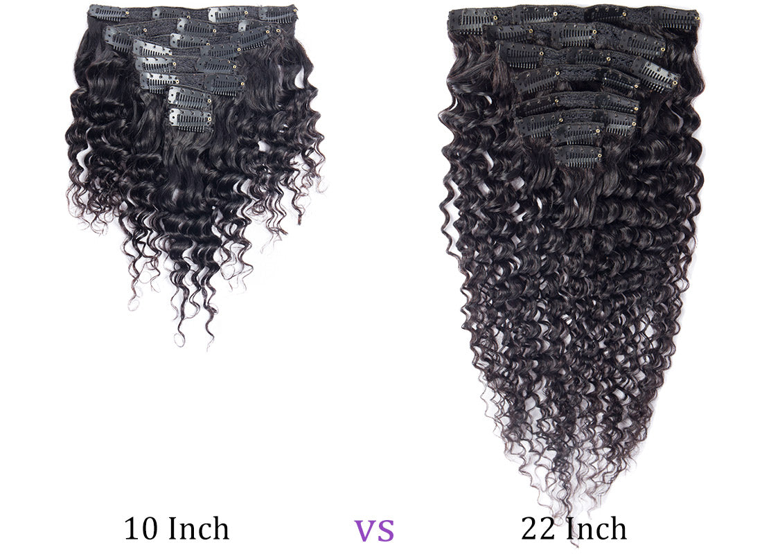 ms curly human hair clip in hair extensions 10-22 inch compare in description
