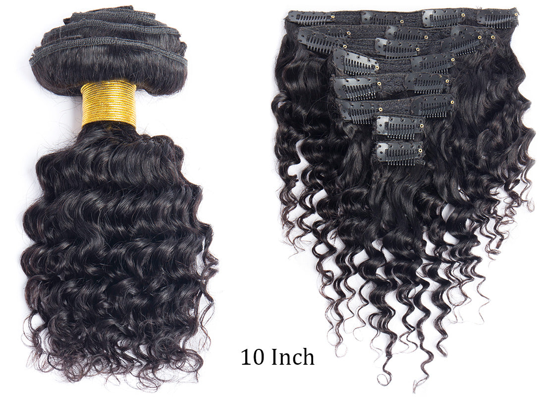 ms curly human hair clip in hair extensions clips and weft in description