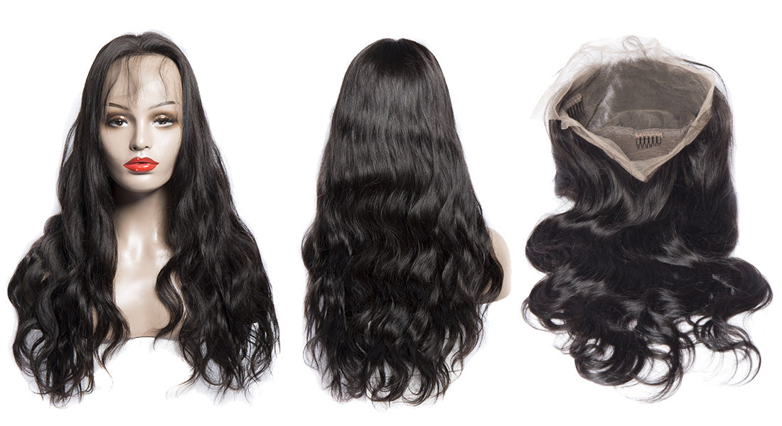 ms body wave 360 lace wigs 180 density image show in description