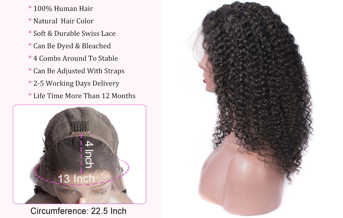 ms hair curly lace front wigs lace size show in description