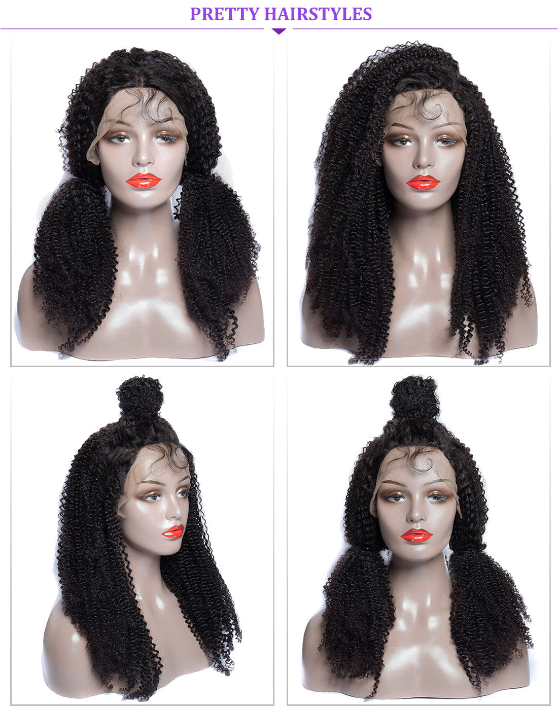 ms kinky curly lace front wigs 150 density hairstyles show in description