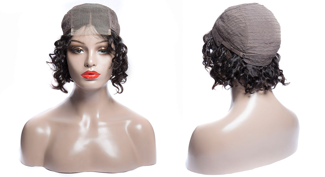 ms loose wave lace closure wig 150 density cap show in description