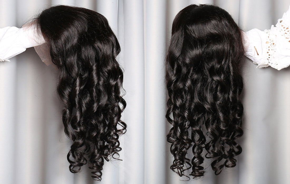 ms loose wave lace front wigs 150 density real image show in description