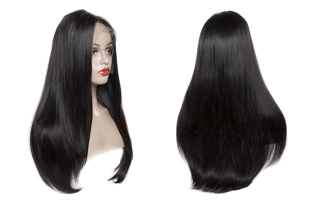 ms straight hair full lace wigs 180 density real image show in description