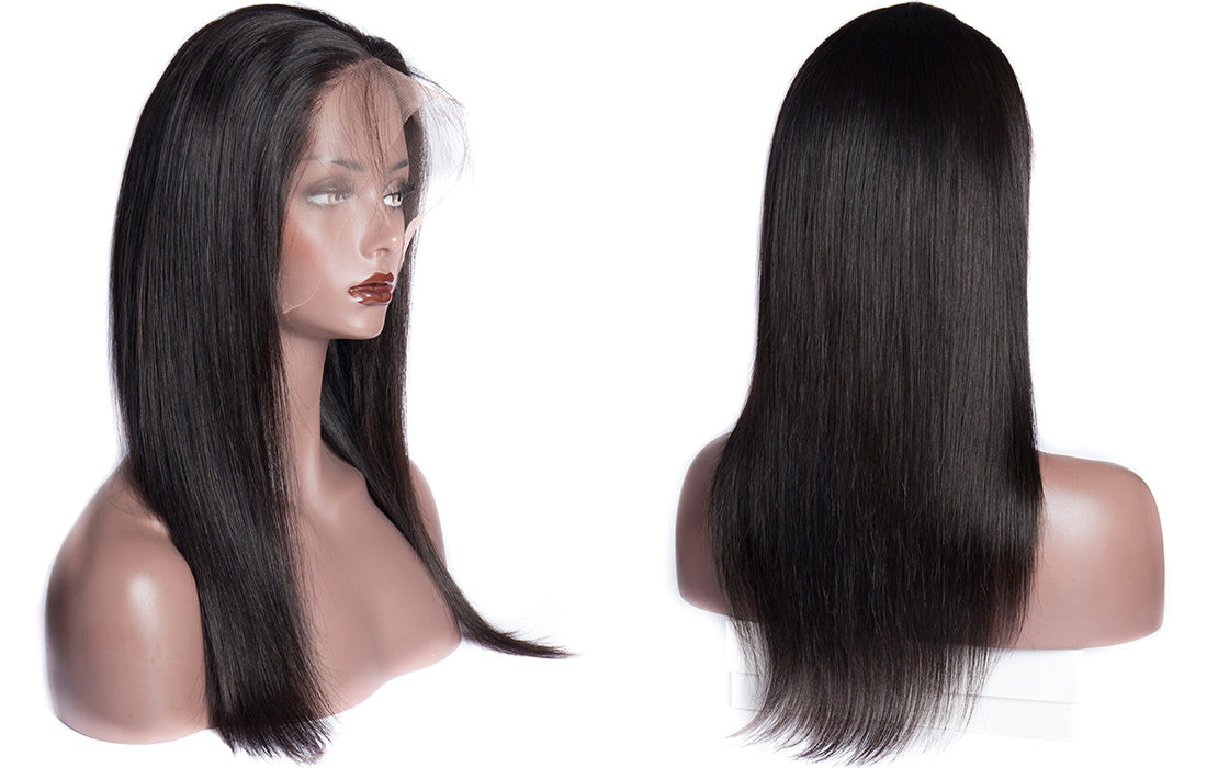 ms virgin remy straight lace front wigs 150 density in description