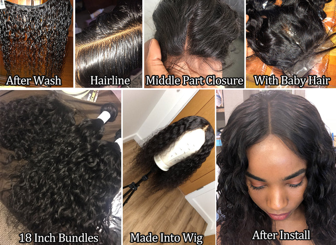 water wave hair customer share in description