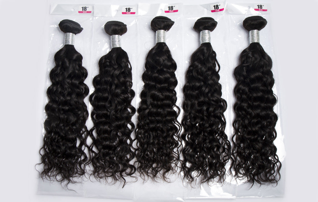 remy water wave human hair real image show in description