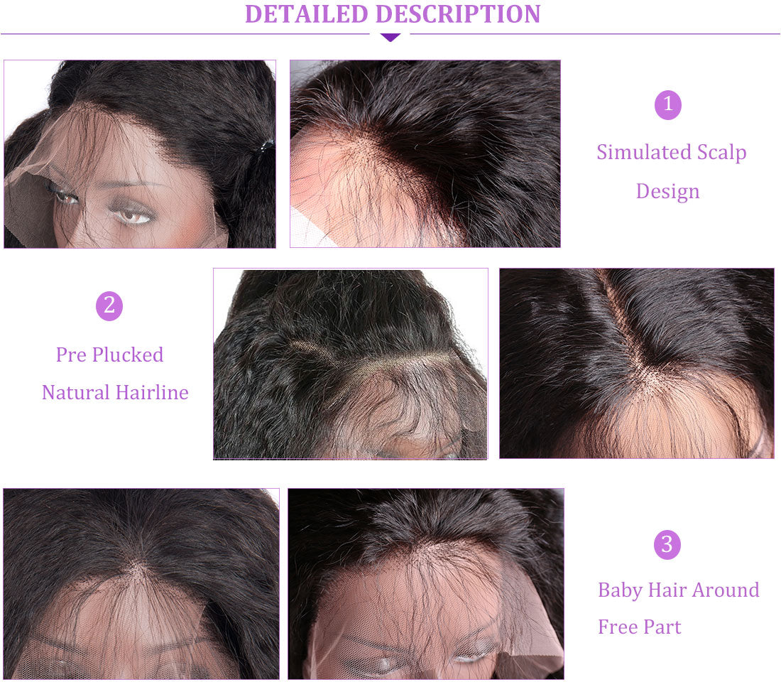 ms yaki straight lace front wigs 150 density hairline show in description