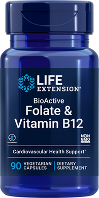BioActive Folate & Vitamin B12, 90 vegetarian capsules - HENDRIKS SCIENTIFIC