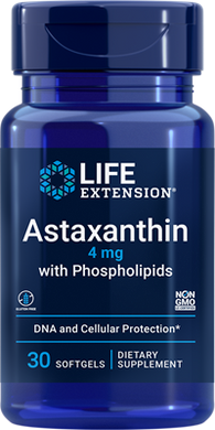 Astaxanthin with Phospholipids, 4 mg, 30 softgels - HENDRIKS SCIENTIFIC