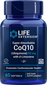 Super-Absorbable CoQ10 (Ubiquinone) with d-Limonene, 50 mg, 60 softgels - HENDRIKS SCIENTIFIC