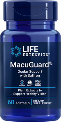MacuGuard® Ocular Support with Saffron, 60 softgels - HENDRIKS SCIENTIFIC