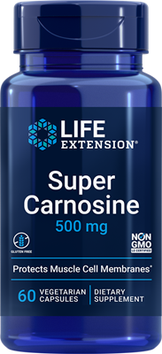 Super Carnosine, 500 mg, 60 vegetarian capsules - HENDRIKS SCIENTIFIC