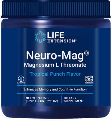 Neuro-Mag® Magnesium L-Threonate (Tropical Punch), 93.35 grams - HENDRIKS SCIENTIFIC