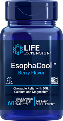 EsophaCool™, 60 vegetarian chewable tablets - HENDRIKS SCIENTIFIC