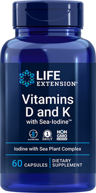 Vitamins D and K with Sea-Iodine™, 60 capsules - HENDRIKS SCIENTIFIC