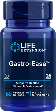 Gastro-Ease™, 60 vegetarian capsules - HENDRIKS SCIENTIFIC