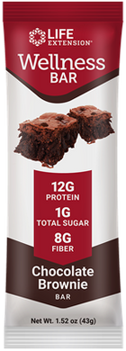 Wellness Bar Chocolate Brownie Flavor, 12 each - HENDRIKS SCIENTIFIC