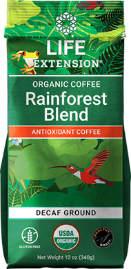 Rainforest Blend Decaf Ground Coffee, 12 oz - HENDRIKS SCIENTIFIC