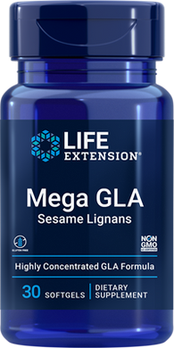 Mega GLA Sesame Lignans, 30 softgels - HENDRIKS SCIENTIFIC