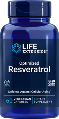 Optimized Resveratrol, 60 vegetarian capsules - HENDRIKS SCIENTIFIC