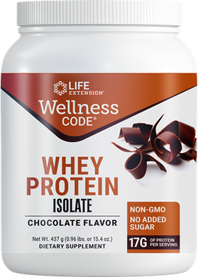 Wellness Code® Whey Protein Isolate (Chocolate), 437 grams - HENDRIKS SCIENTIFIC