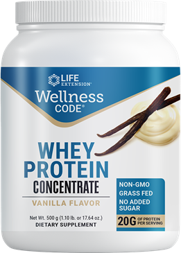 Wellness Code® Whey Protein Concentrate (Vanilla), 500 grams - HENDRIKS SCIENTIFIC
