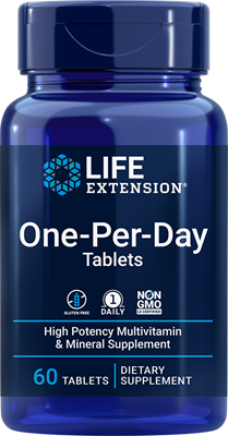 One-Per-Day Tablets, 60 tablets - HENDRIKS SCIENTIFIC