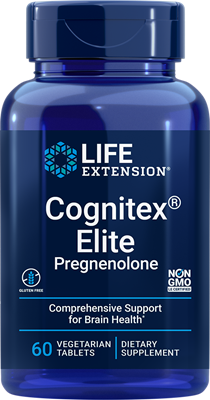 Cognitex® Elite Pregnenolone, 60 vegetarian tablets - HENDRIKS SCIENTIFIC