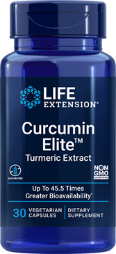 Curcumin Elite™ Turmeric Extract, 30 vegetarian capsules - HENDRIKS SCIENTIFIC