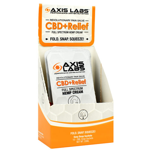Cbd + Relief Cream, 10 (2 Ml) Snap Sachets, 10 (2 ml) Snap Sachets - HENDRIKS SCIENTIFIC