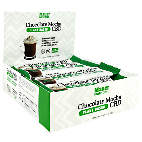 Cbd Bars, Chocolate Mocha, 12 (1.7 oz) Bars - HENDRIKS SCIENTIFIC