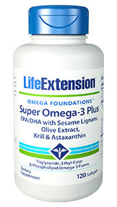 Super Omega-3 Plus EPA-DHA with Sesame Lignans, Olive Extract, Krill & Astaxanthin - HENDRIKS SCIENTIFIC