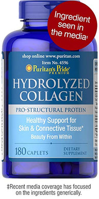 Puritans Pride Hydrolyzed Collagen 1000 Mg - 180 Caplets - HENDRIKS SCIENTIFIC