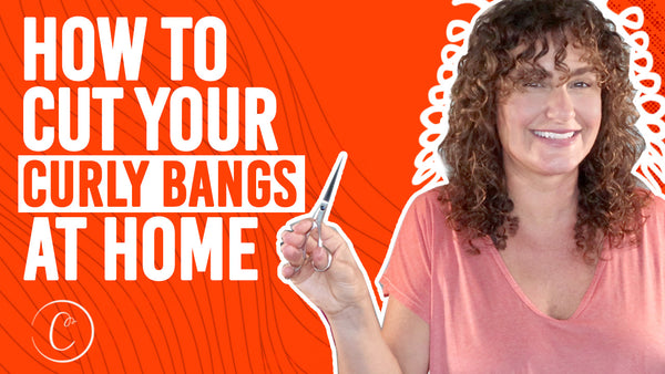 how to cut curly bangs at home
